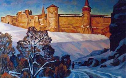 крепость. выпал снег